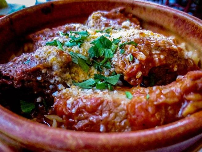 """""""Lamb in a clay pot"""" at Estia Cafe"""