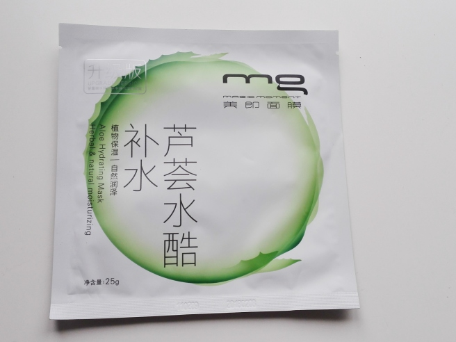 MG's Aloe hydrating/moisturizing mask: LOVES IT!