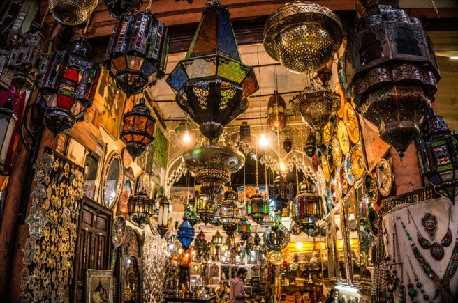 Lamps at the Souks