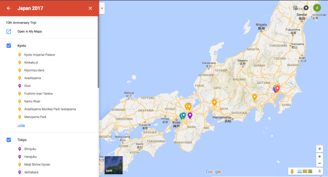 How to Plan a Trip to Japan Google Map